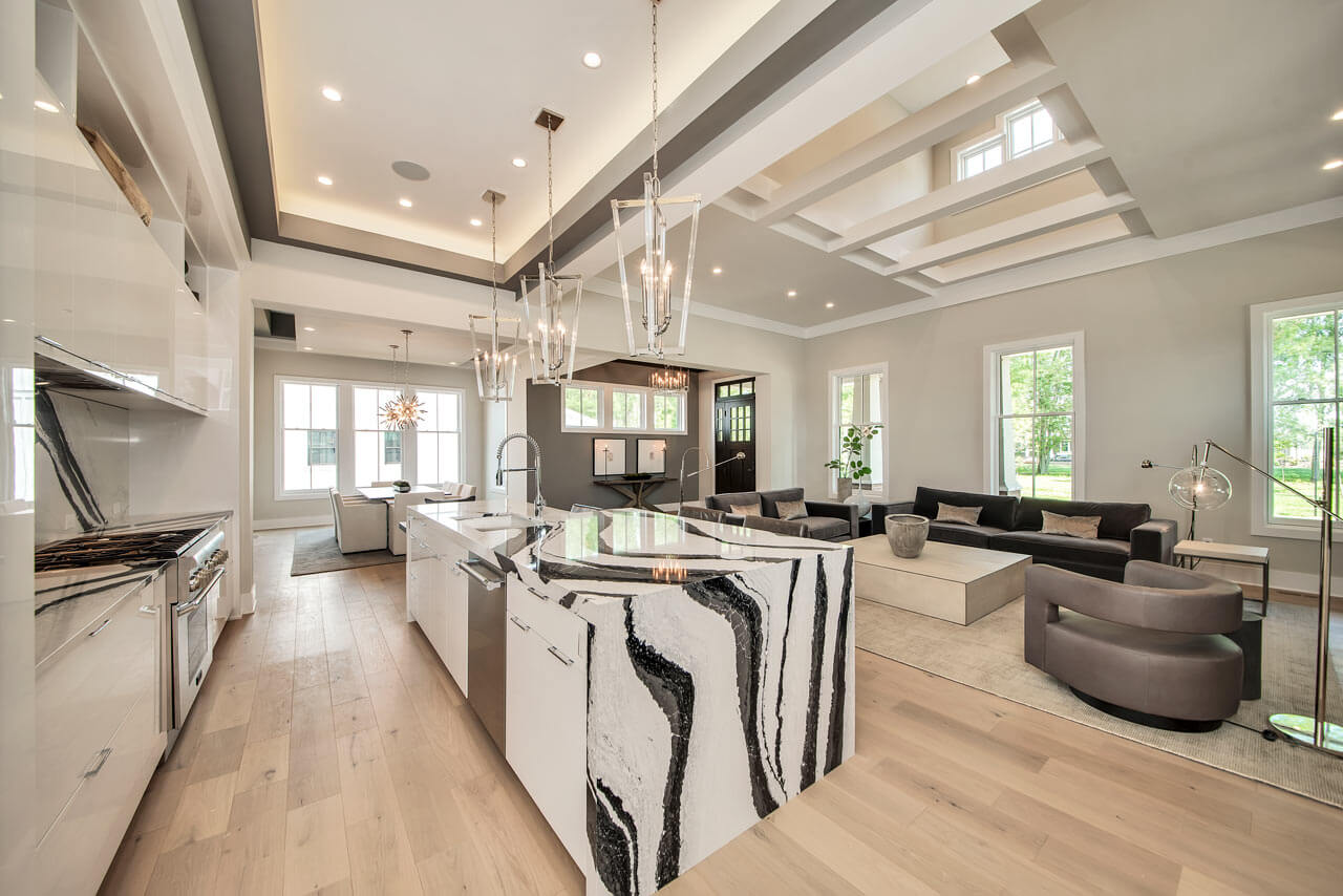 design focal point with hardwood