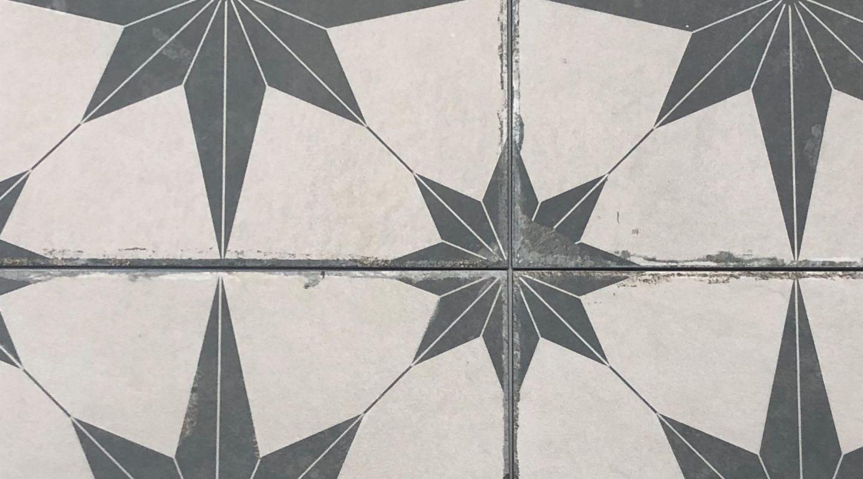 Compass ceramic tile