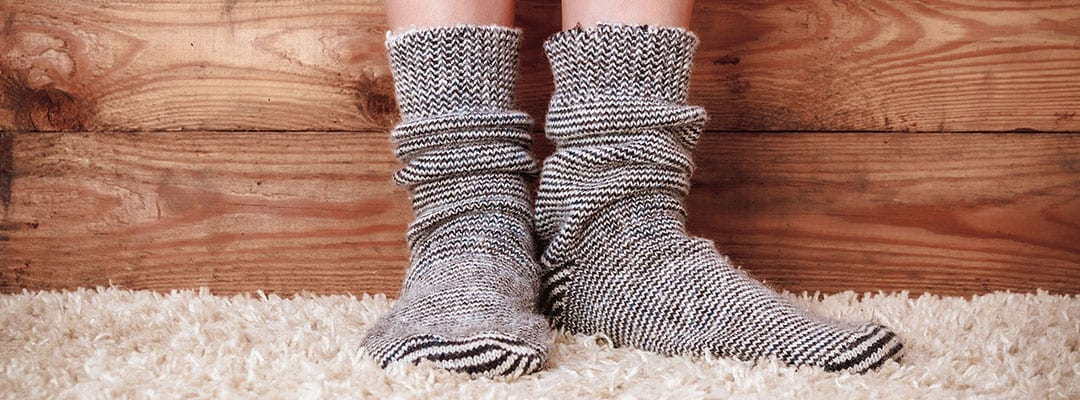walking on carpet in thick socks