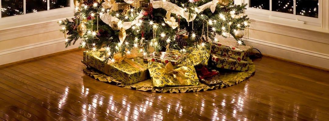 hardwood flooring under christmas tree