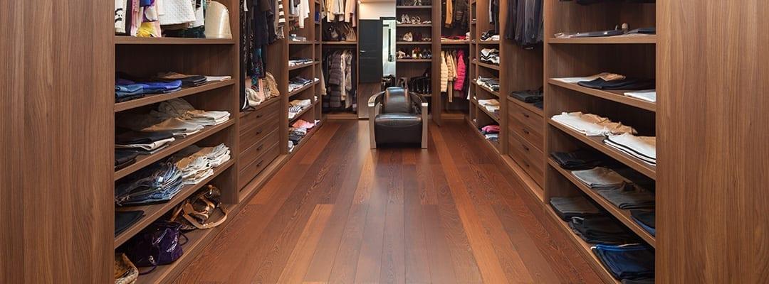 hardwood flooring in closet