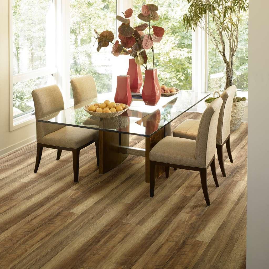luxury vinyl plank in dining room